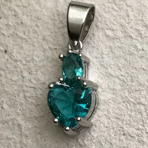 Jewelry - Aquamarine Heart 925 Sterling SF Pendant